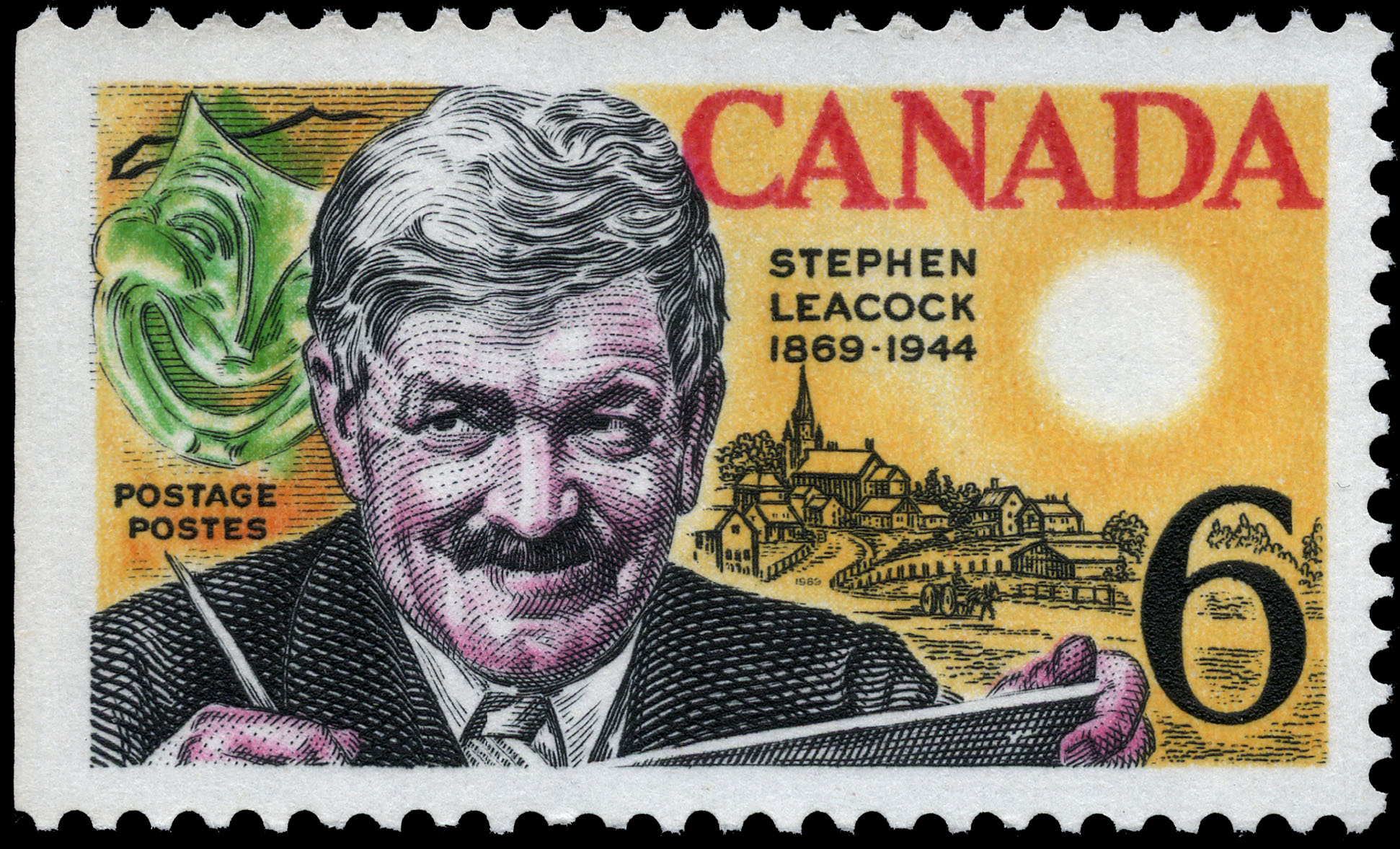 Stephen Leacock, 1869-1944 Canada Postage Stamp