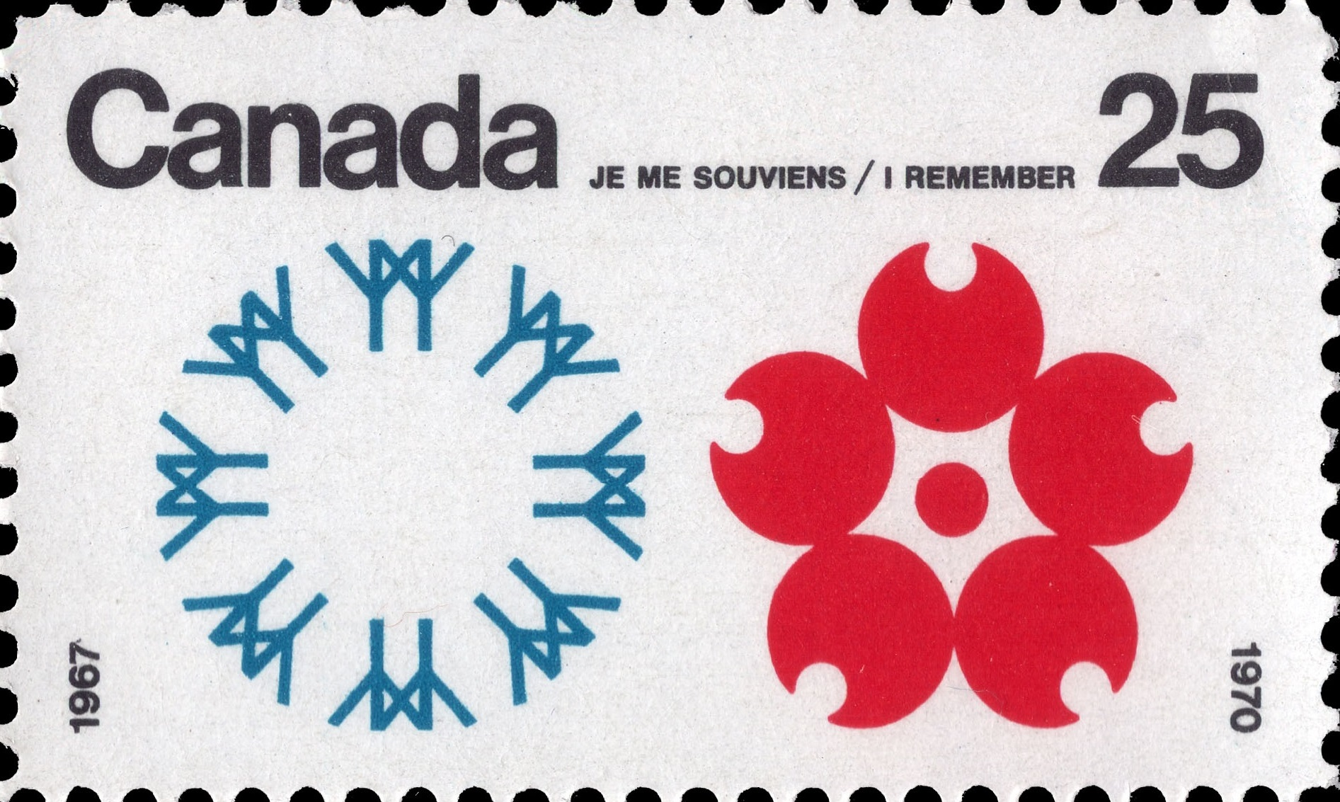 I Remember, 1967, 1970 Canada Postage Stamp