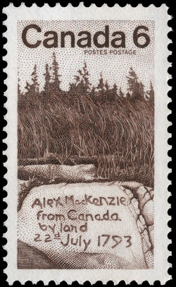 Alex MacKenzie from Canada by land 22nd July 1793 Canada Postage Stamp