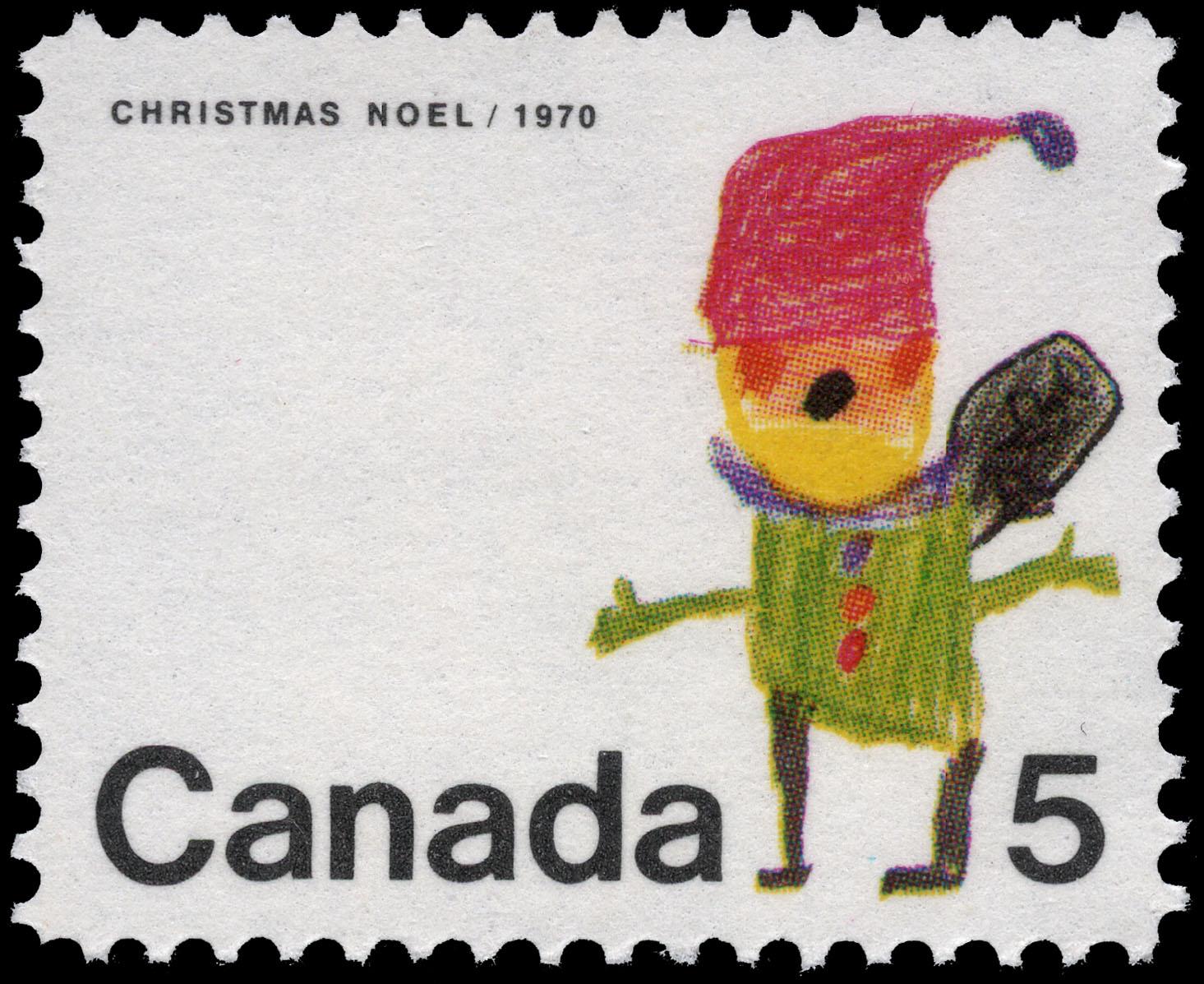 Santa Claus Canada Postage Stamp