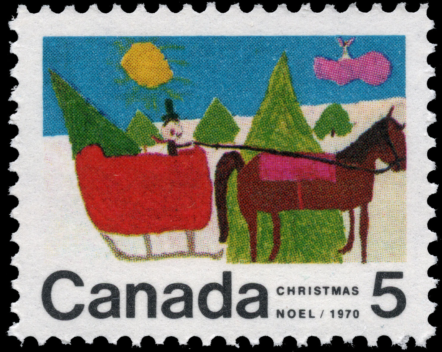 Sleigh Canada Postage Stamp