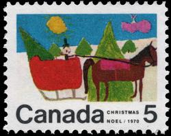 Sleigh Canada Postage Stamp | Christmas