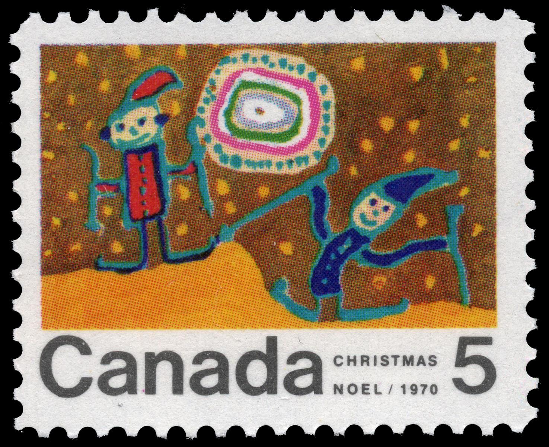 Skiing Canada Postage Stamp | Christmas