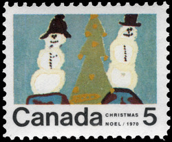 Snowmen Canada Postage Stamp | Christmas