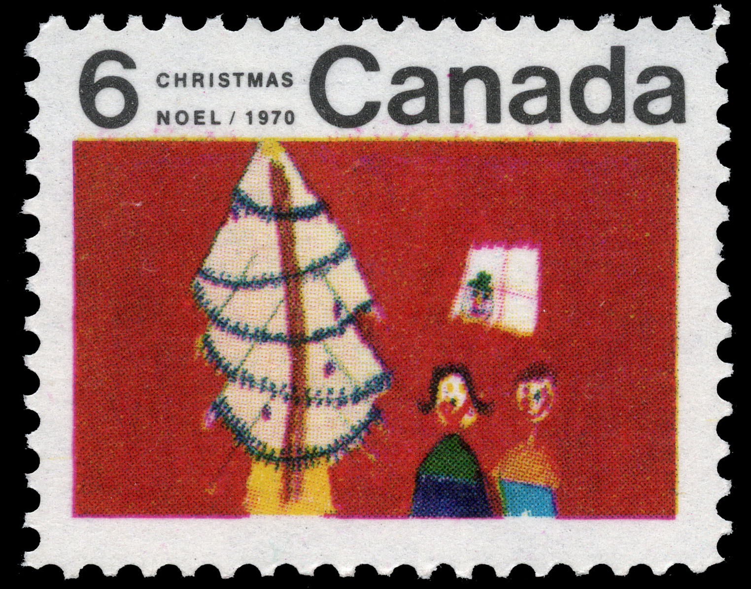 Christmas Tree Canada Postage Stamp