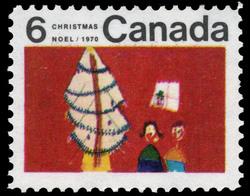 Christmas Tree Canada Postage Stamp | Christmas