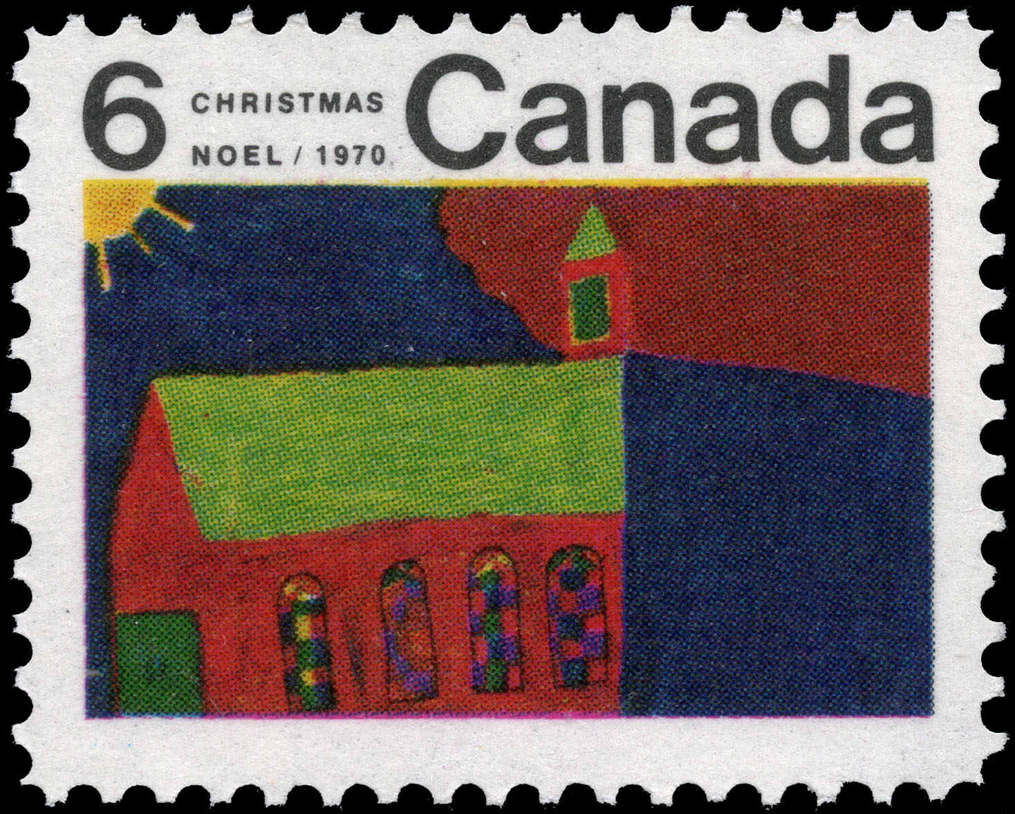 Church Canada Postage Stamp