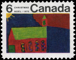 Church Canada Postage Stamp | Christmas