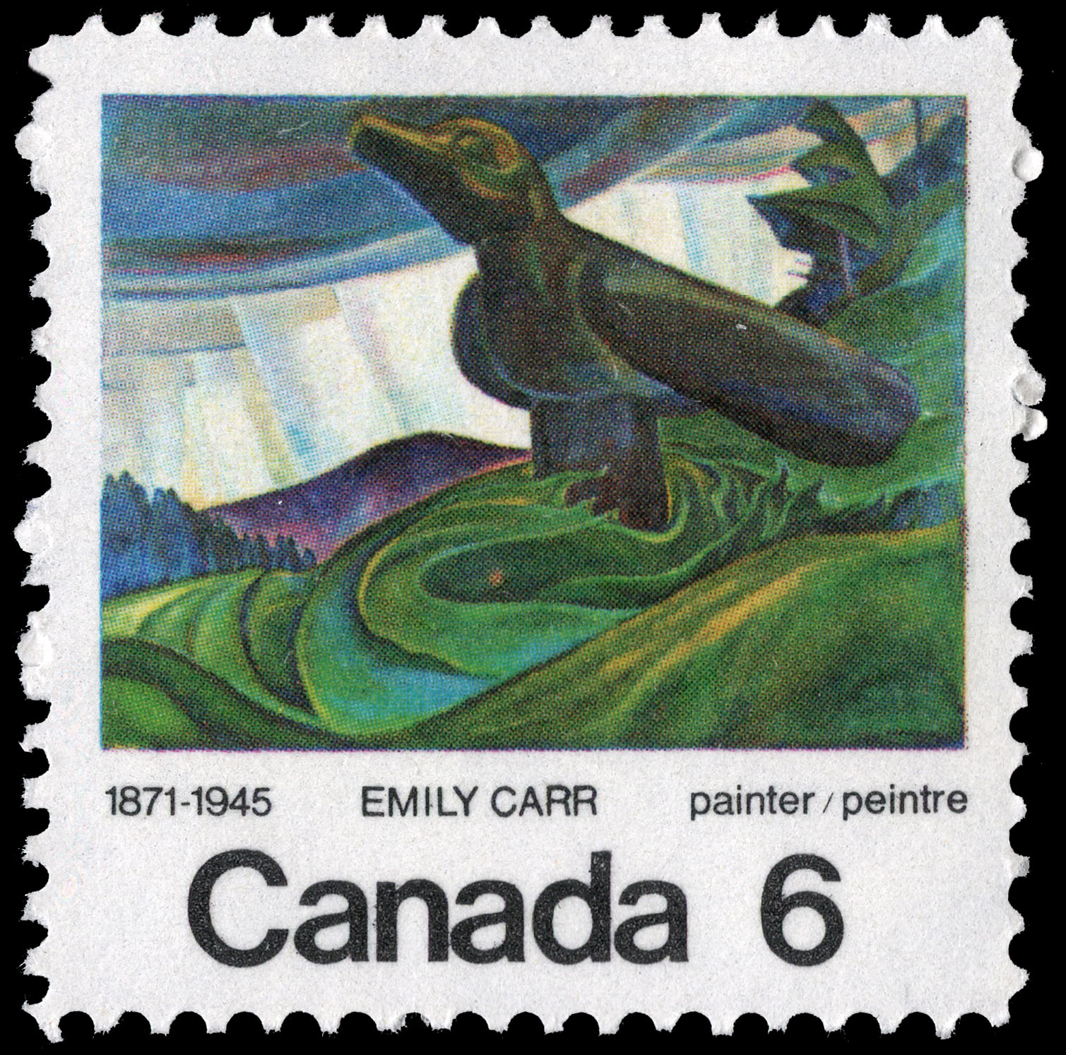 Emily Carr, painter, 1871-1945 Canada Postage Stamp