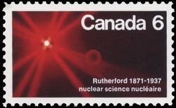 Rutherford, 1871-1937, Nuclear Science Canada Postage Stamp