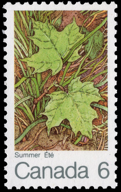 Summer Canada Postage Stamp | The Maple in four Seasons