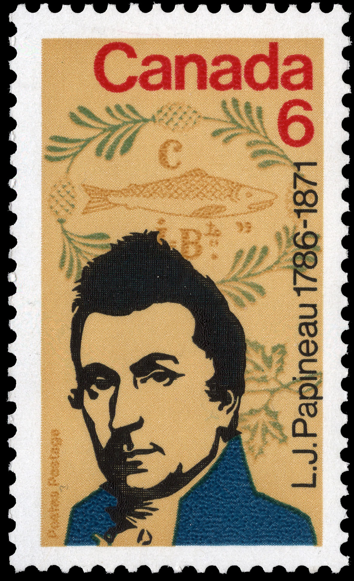 L.J. Papineau, 1786-1871 Canada Postage Stamp