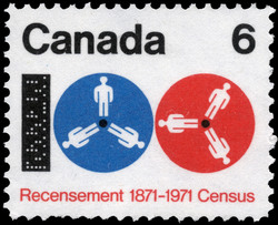 Census, 1871-1971 Canada Postage Stamp