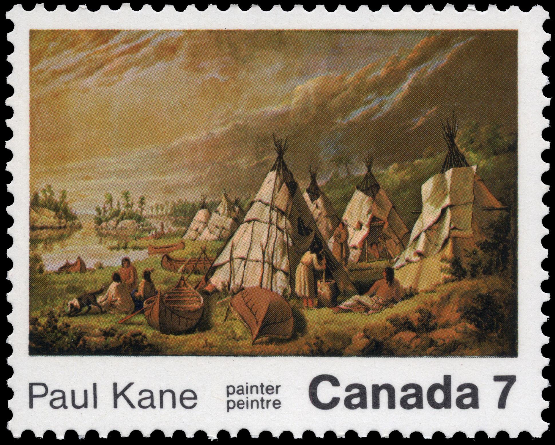 Paul Kane, painter Canada Postage Stamp