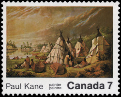 Paul Kane, painter Canada Postage Stamp