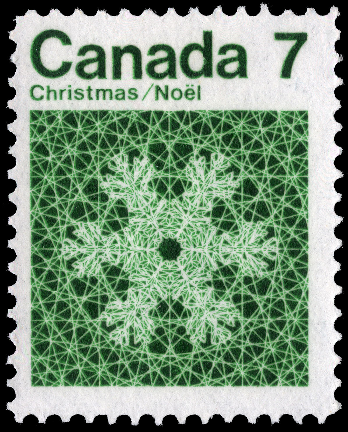Snowflake Canada Postage Stamp