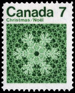 Snowflake Canada Postage Stamp | Christmas