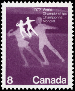 1972 World Championships Canada Postage Stamp