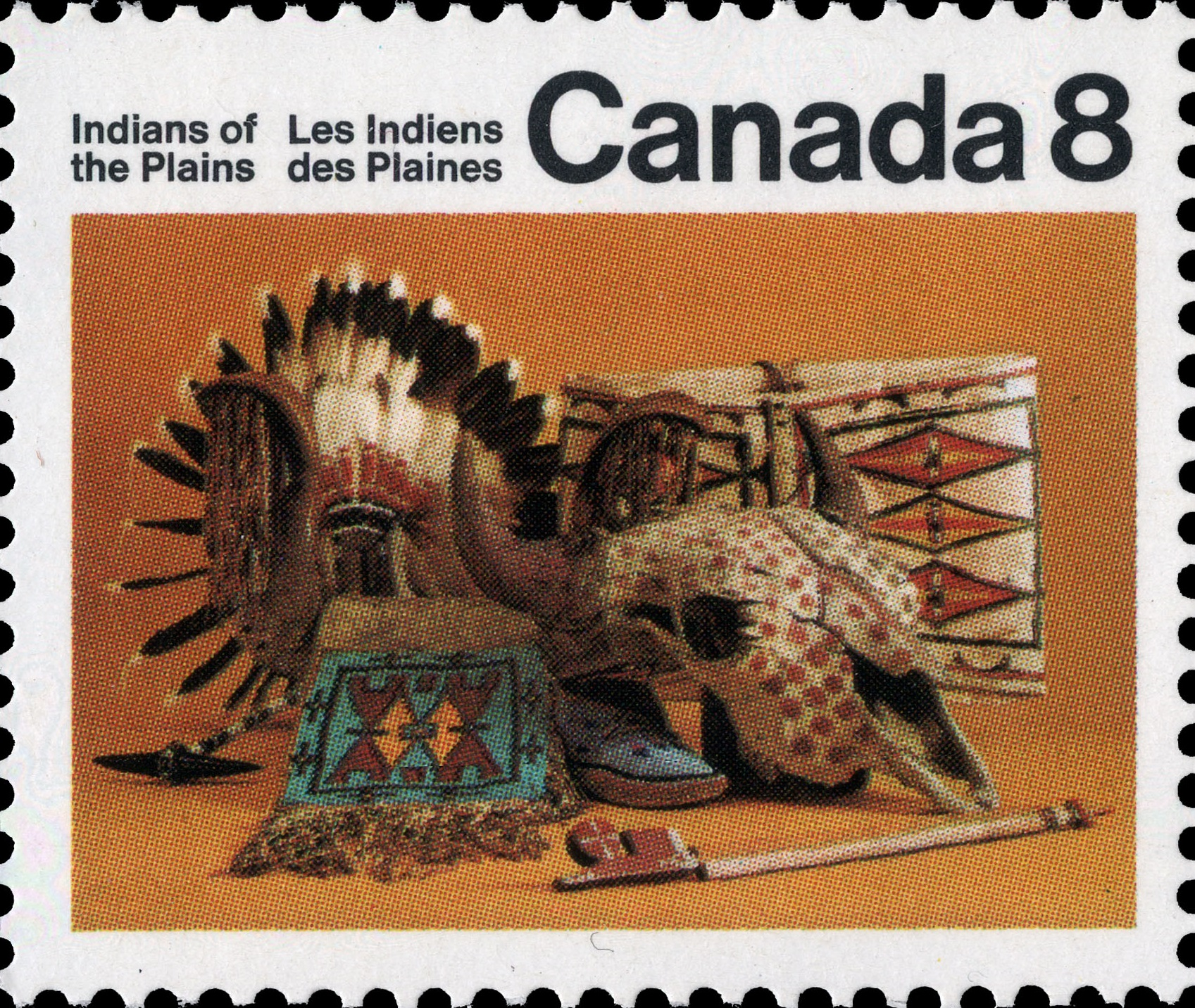 Artifacts Canada Postage Stamp | Indians of Canada, Indians of the Plains