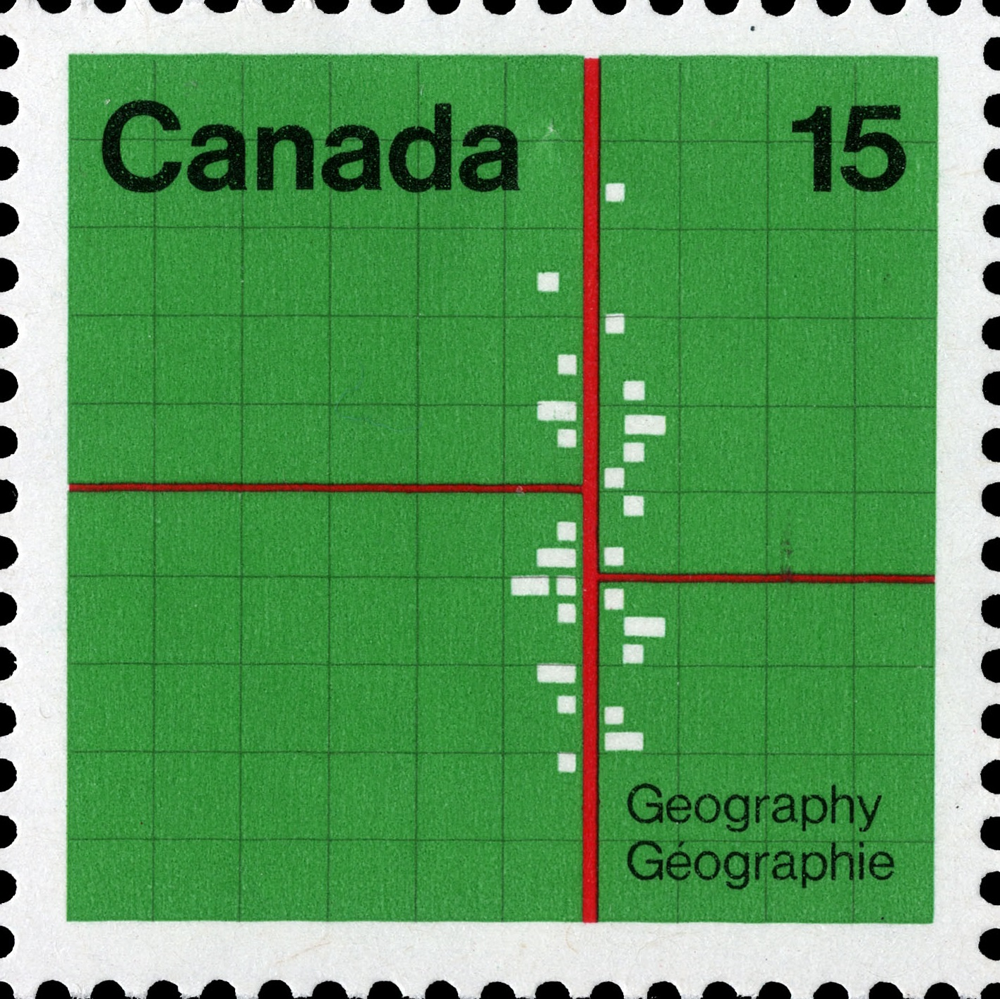 Geography Canada Postage Stamp