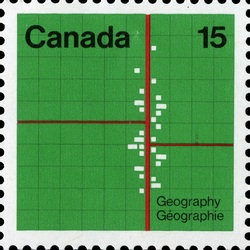 Geography Canada Postage Stamp | Earth Sciences