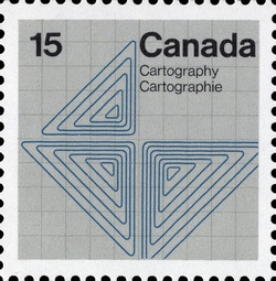 Cartography Canada Postage Stamp | Earth Sciences