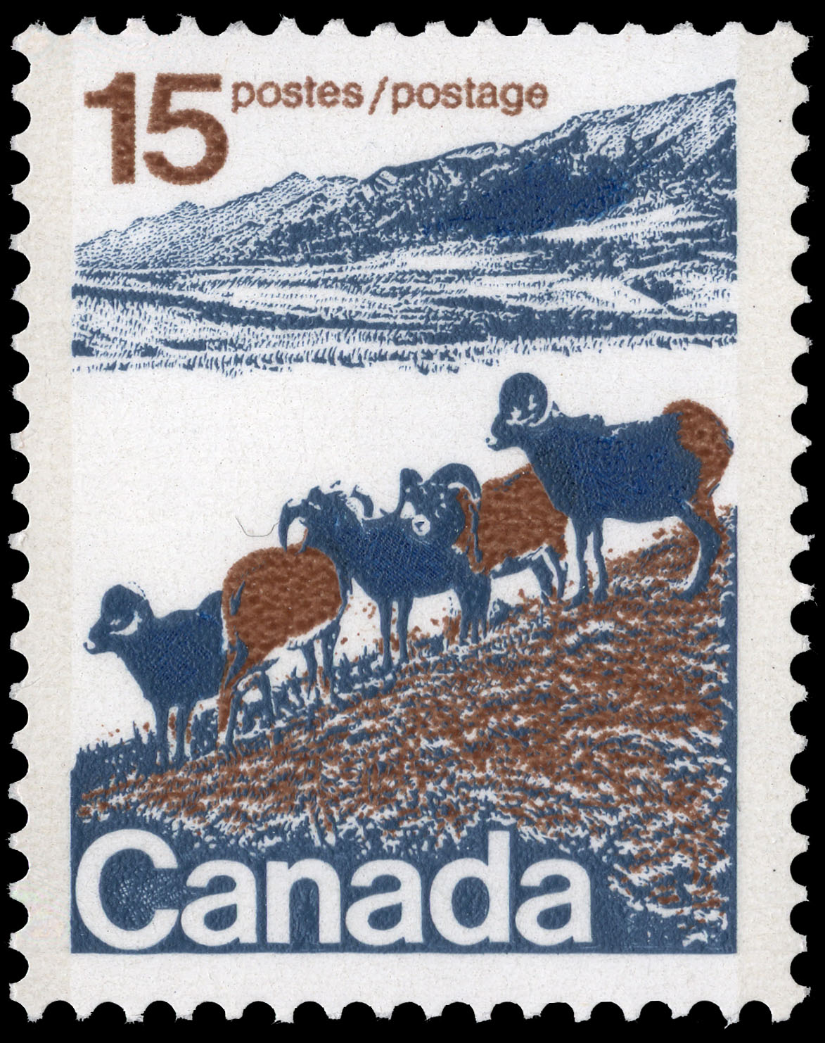 Mountain Sheep of Western Canada Canada Postage Stamp