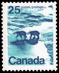 Polar Bears in Canadian North Canada Postage Stamp
