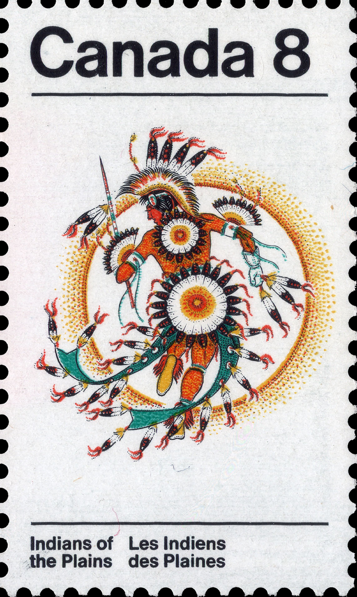 Fancy Dancer Canada Postage Stamp