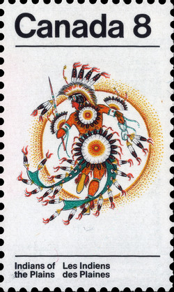 Fancy Dancer Canada Postage Stamp | Indians of Canada, Indians of the Plains