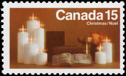 Candles Canada Postage Stamp | Christmas