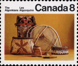 Artifacts Canada Postage Stamp | Indians of Canada, The Algonkians