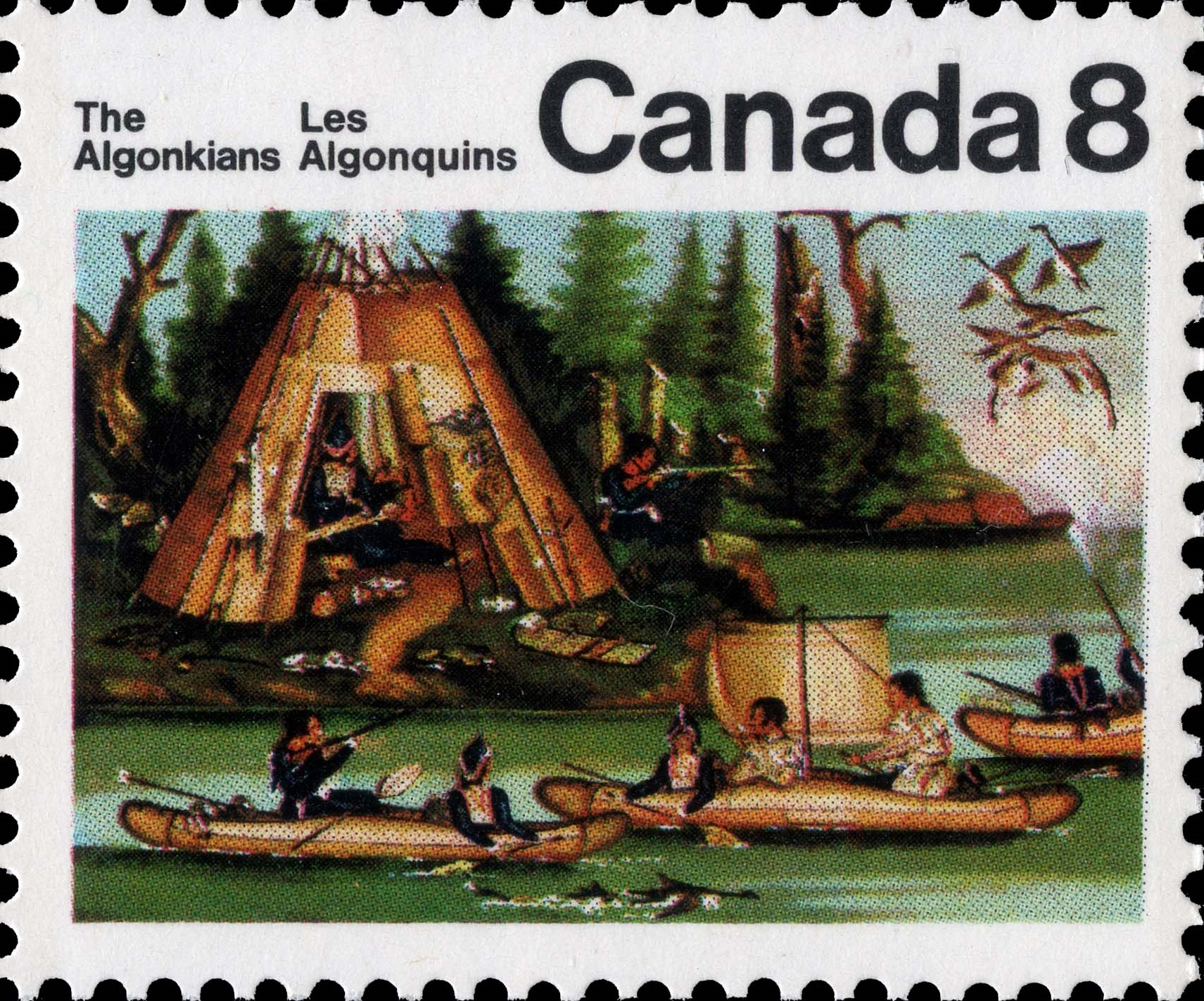Micmac Indians Canada Postage Stamp | Indians of Canada, The Algonkians