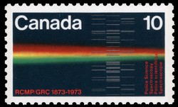 Police Science, Spectroscopy Canada Postage Stamp | RCMP, 1873-1973
