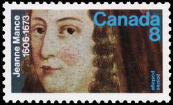Jeanne Mance, 1606-1673 Canada Postage Stamp