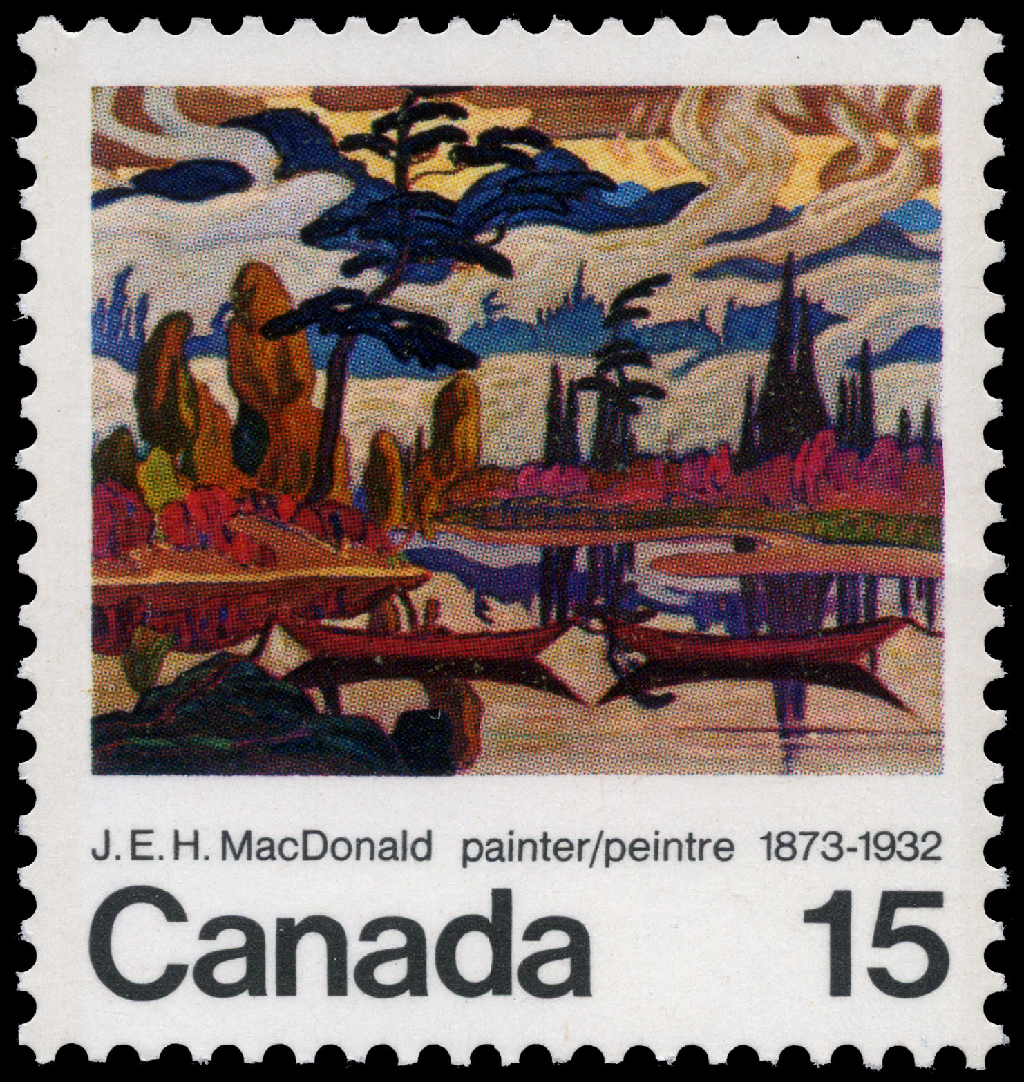 J.E.H. MacDonald, painter, 1873-1932 Canada Postage Stamp