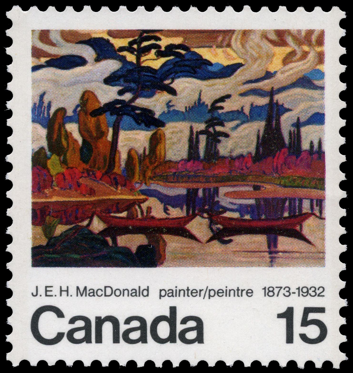 J.E.H. MacDonald, painter, 1873-1932 Canada Postage Stamp