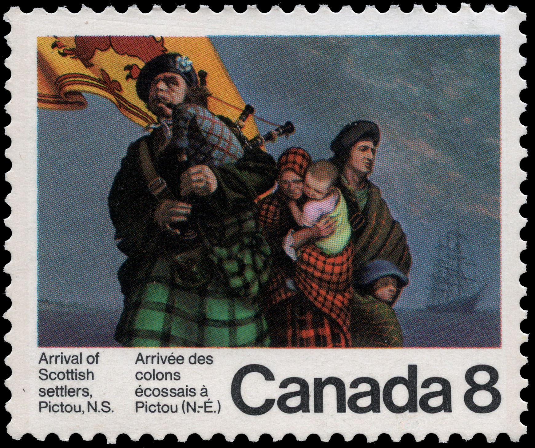 Arrival of Scottish Settlers, Pictou, N.S. Canada Postage Stamp