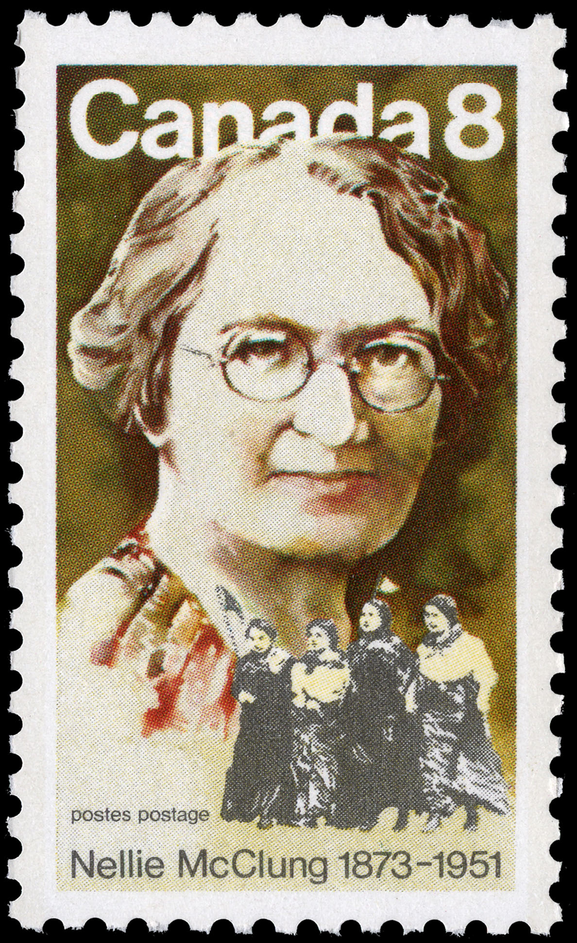 Nellie McClung, 1873-1951 Canada Postage Stamp
