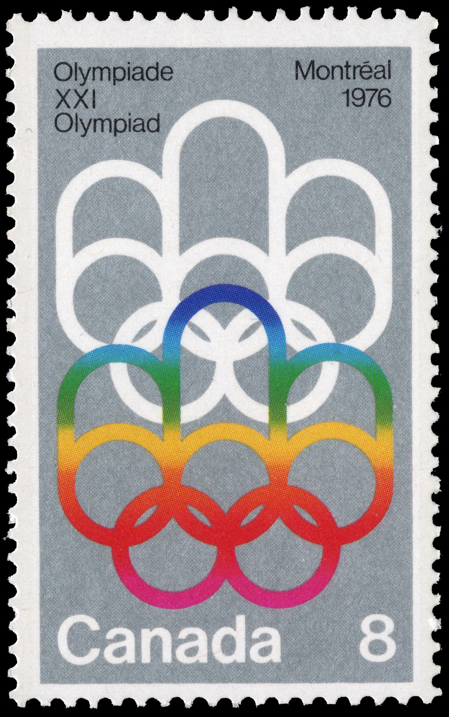 Symbol Of The Montreal Games Canada Postage Stamp 1976 Olympic Games