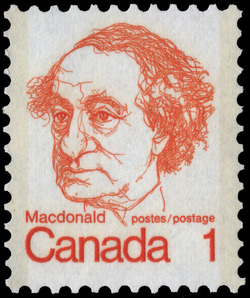 Macdonald Canada Postage Stamp | Caricature Definitives