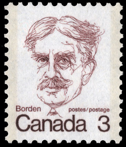 Borden Canada Postage Stamp | Caricature Definitives
