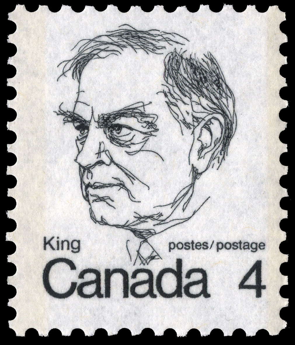 King Canada Postage Stamp | Caricature Definitives