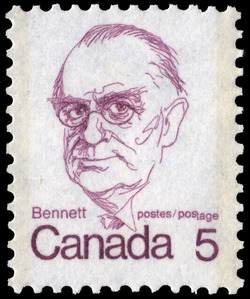 Bennett Canada Postage Stamp | Caricature Definitives