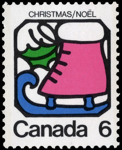 Ice Skate Canada Postage Stamp | Christmas