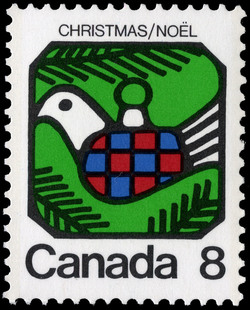 Dove Canada Postage Stamp | Christmas