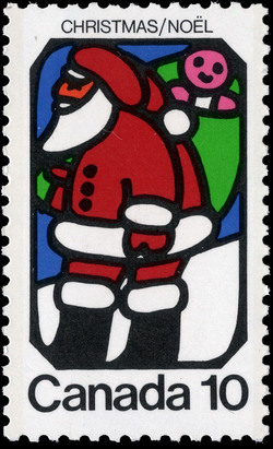 Santa Claus Canada Postage Stamp | Christmas