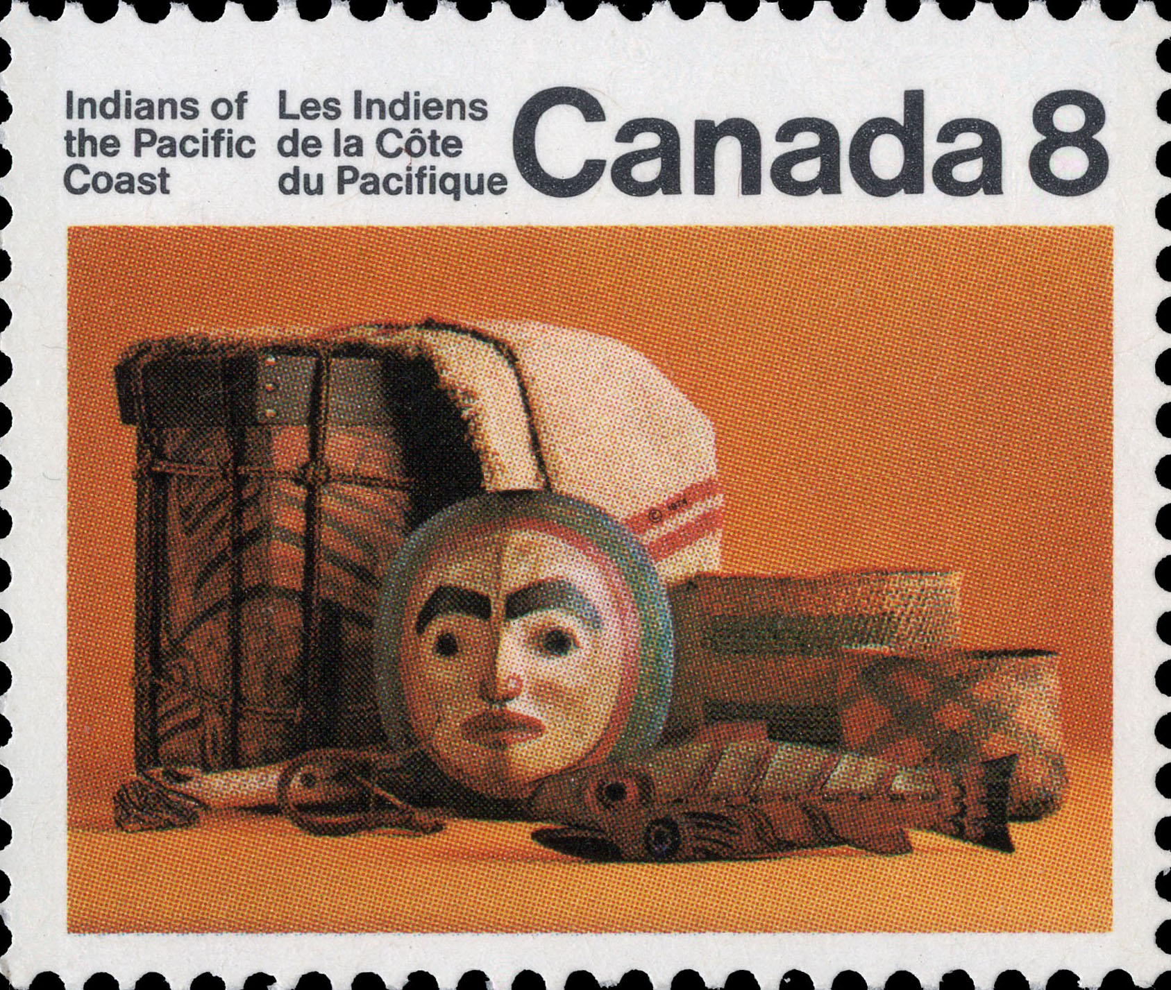 Artifacts Canada Postage Stamp | Indians of Canada, Indians of the Pacific Coast