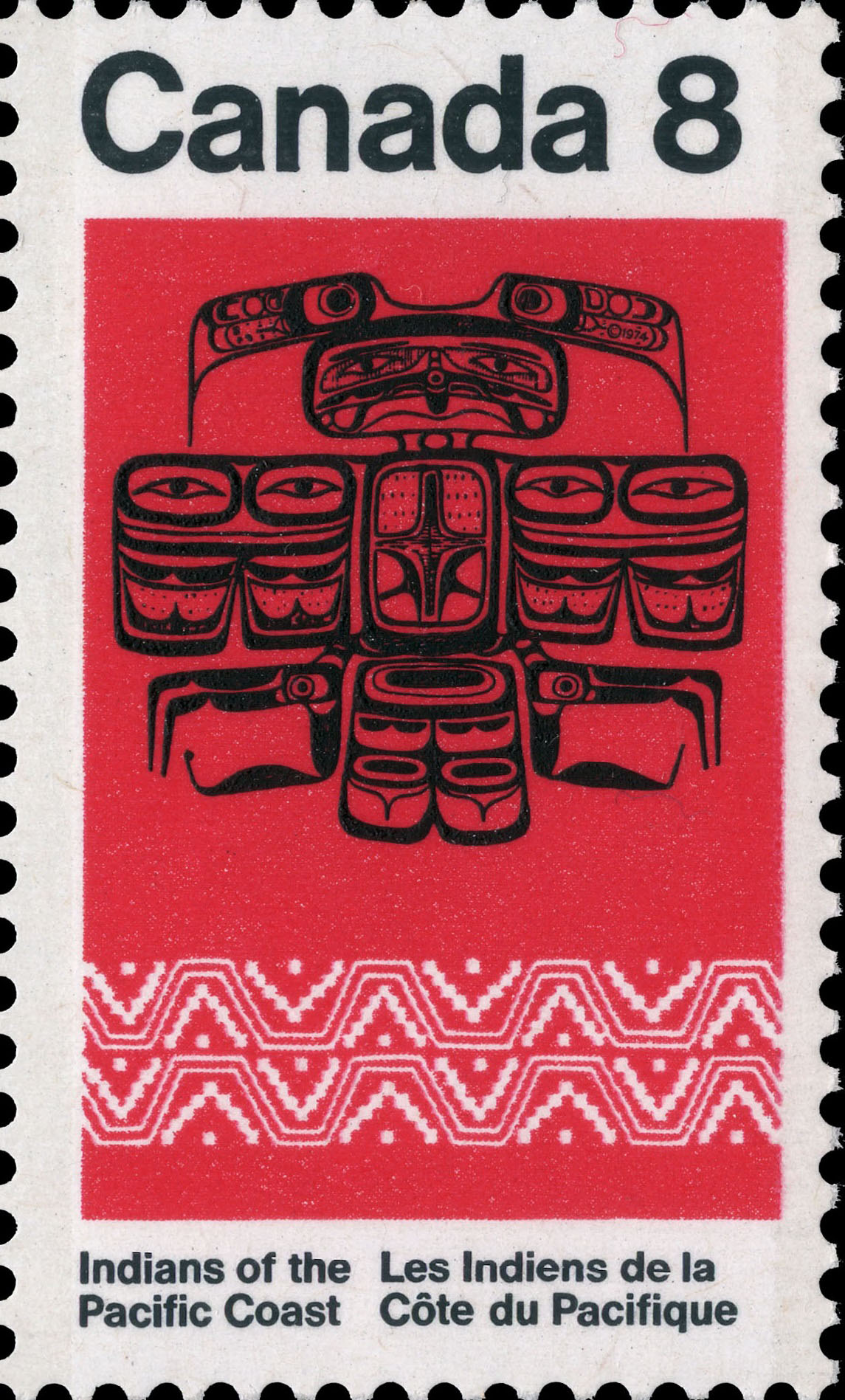 Thunderbird Canada Postage Stamp | Indians of Canada, Indians of the Pacific Coast