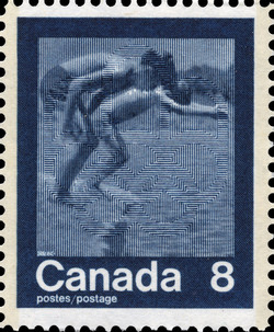 Swimming Canada Postage Stamp | 1976 Olympic Games, Keeping Fit
